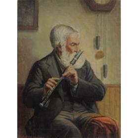 THE FLUTE PLAYER, 1886