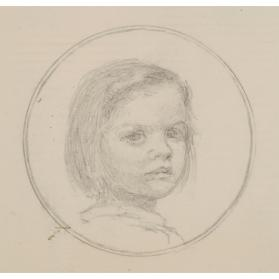 SKETCH OF A GIRL FOR A MINIATURE