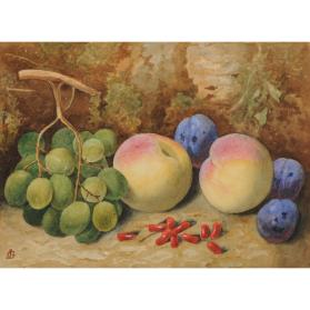 PEACHES, PLUMS AND GRAPES