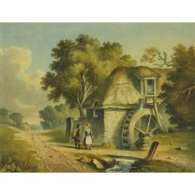 LANDSCAPE WITH MILL WHEEL