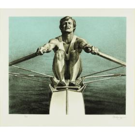 OLYMPIC SERIGRAPHS: THE SCULLER