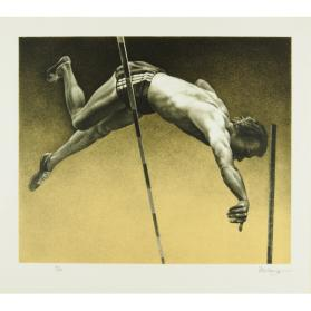 OLYMPIC SERIGRAPHS: THE VAULTER