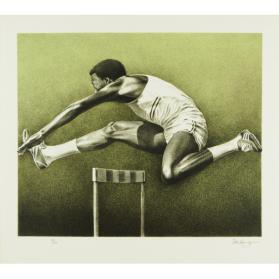 OLYMPIC SERIGRAPHS: THE HURDLER