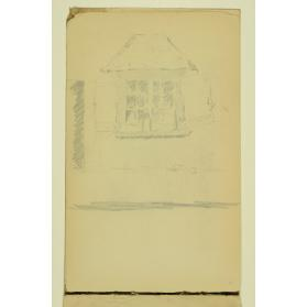 PAUL PEEL SKETCHBOOK: WINDOW AND ROOF STUDY WITH BOTTLE