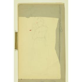 PAUL PEEL SKETCHBOOK: FRAGMENT OF THE REAR VIEW OF A WOMAN