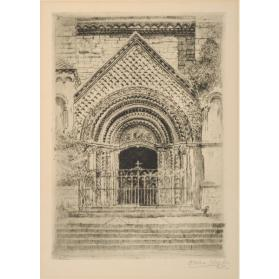 MAIN ENTRANCE DOORWAY, UNIVERSITY COLLEGE, UNIVERSITY OF TORONTO