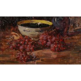 STILL LIFE WITH GRAPES AND BOWL