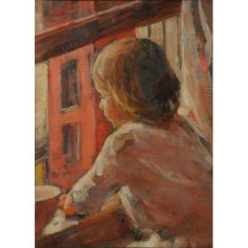 GIRL AT WINDOW