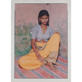 KALCUTT, PRINT # 88456: FEMALE IN YELLOW SARI