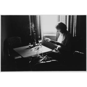 Woman Reading, York Hotel, London, ON, Summer