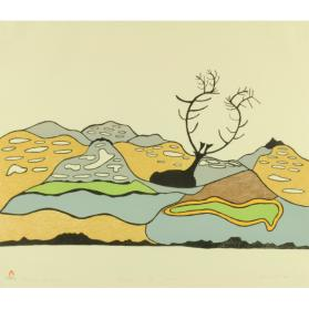 LANDSCAPE WITH CARIBOU