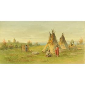 PLAINS INDIANS AND THEIR ENCAMPMENT